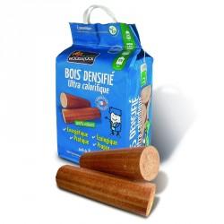 Bûches de bois densifiés